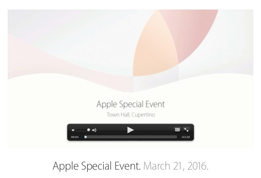 Apple Keynote marzo 2016